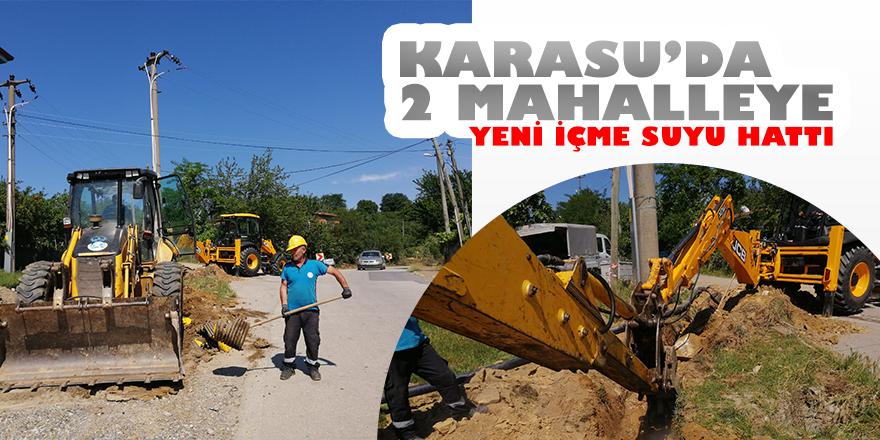 Karasu'da İki Mahalleye Yeni Su Şebekesi Hattı